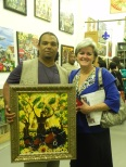 Bryant and Rae Trahan, new owner of SUNFLOWERS