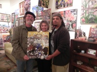 Retired professor & architect and his lovely wife, Mr & Mrs Eddie Cazayoux. New owners of a Bryant Benoit original painting.