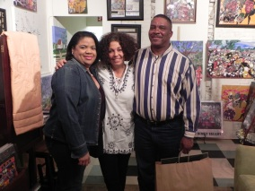 Family stopping by to show some love & support. New owners of a Benoit Gallery print.