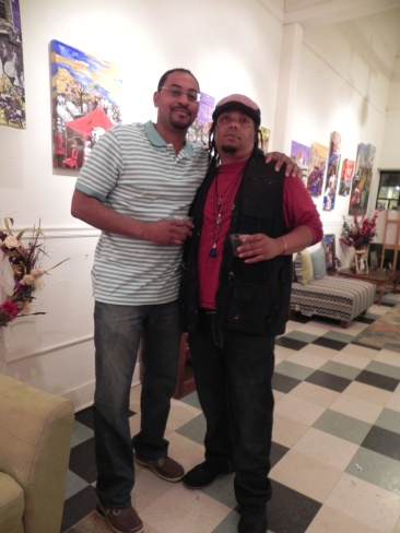 With local artist, Theon Guillory Sr.