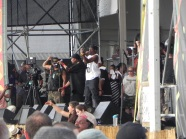 Public Enemy & Flava Flav on stage at Jazz Fest