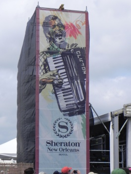 Lafayette's own Clifton Chenier standing tall at Jazz Fest. Benoit Gallery following the footsteps of my elders, standing tall at Jazz Fest 2014.