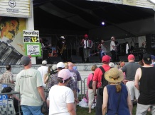 CJ Chenier on stage at Jazz Fest