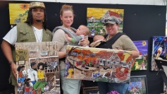 Christina Guillory & Heather Searles picked up these 2 at the Congo Sqare World Rhythms Festival. This brings their collection to 5 originals!!