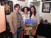 Mr & Mrs Richard Young, Owners of Event Rental. They took this original piece home with them.