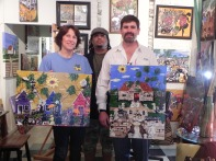 New Collectors of BENOIT GALLERY art!!!!! Thanks to Suzanne Patterson & Robert Holmes. These 2 paintings are going to Texas.