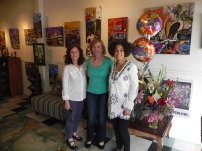 Barbara Gervis and her friend drove in from New Orleans today to visit the gallery and Barbara decided to commission a piece.