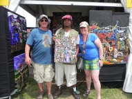 """Josh & Amy Deger are taking this piece """"Carnival Tyme"""" back home to Groton, MA."""
