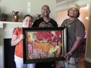 Milton & Kim Charles with their first Bryant Benoit peice.