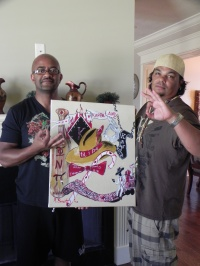 Milton Charles & Bryant with the second peice in their collection of Benoit Galllery art.