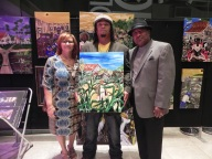 "Carolyn & Rickey Norman with ""Creole Farmer"". Mr Rickey said this reminds him of his grandpa."