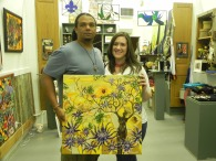 Andrea Bourque purchased Orange Sunrays & Purple Lotus. Much luv.