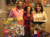 Shawn & Nadareca Thibeaux with their collection of Bryant Benoit Originals. These hang in KY now.