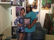 Vanessa Robertson with her new print
