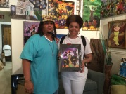 Shannon Ozene with her new print