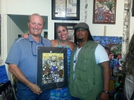 Bryant with local contractor, John Escott & his wife Shawna.