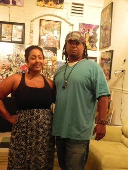 Dr Elizabeth Romar dropped in to spend a lil time with us during Artwalk.