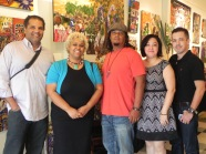 Artist Karen LaBeau & husband Darrel brought along cousins Sandra & Clint Heileman.