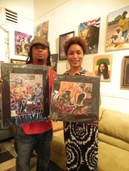 Latricia took these prints, and a few more, home with her. Much luv