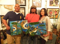 Frat Brother Rondell & Renee Castille came out & showed some luv, picking up this original.