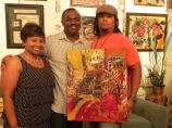 Much luv to my Frat Brother Dos & his wife Attorney Franchesca Acker for coming out & supporting Benoit Gallery.