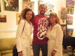 Artist Theon Guillory with Promoters Brenda & Peggy Andrus