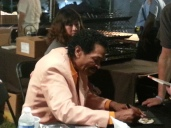 Legendary Blues Man, Bobby Rush signing autographs.
