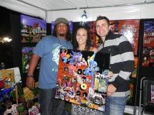 Scotty & Kim Richards with their new piece.
