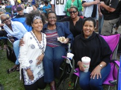 Joey chillin with family, Rose & Melissa Mouton & Margaret Wilson. Enjoying the music.