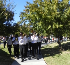 Second line lead by Edna Karr High School Brass Band (Wimmers of Class Got Brass)