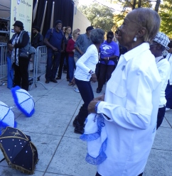 Second Line Jammers performing with the Pinettes Brass Band